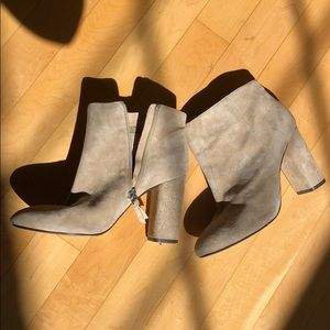 Saks Fifth Avenue Full suede leather booties